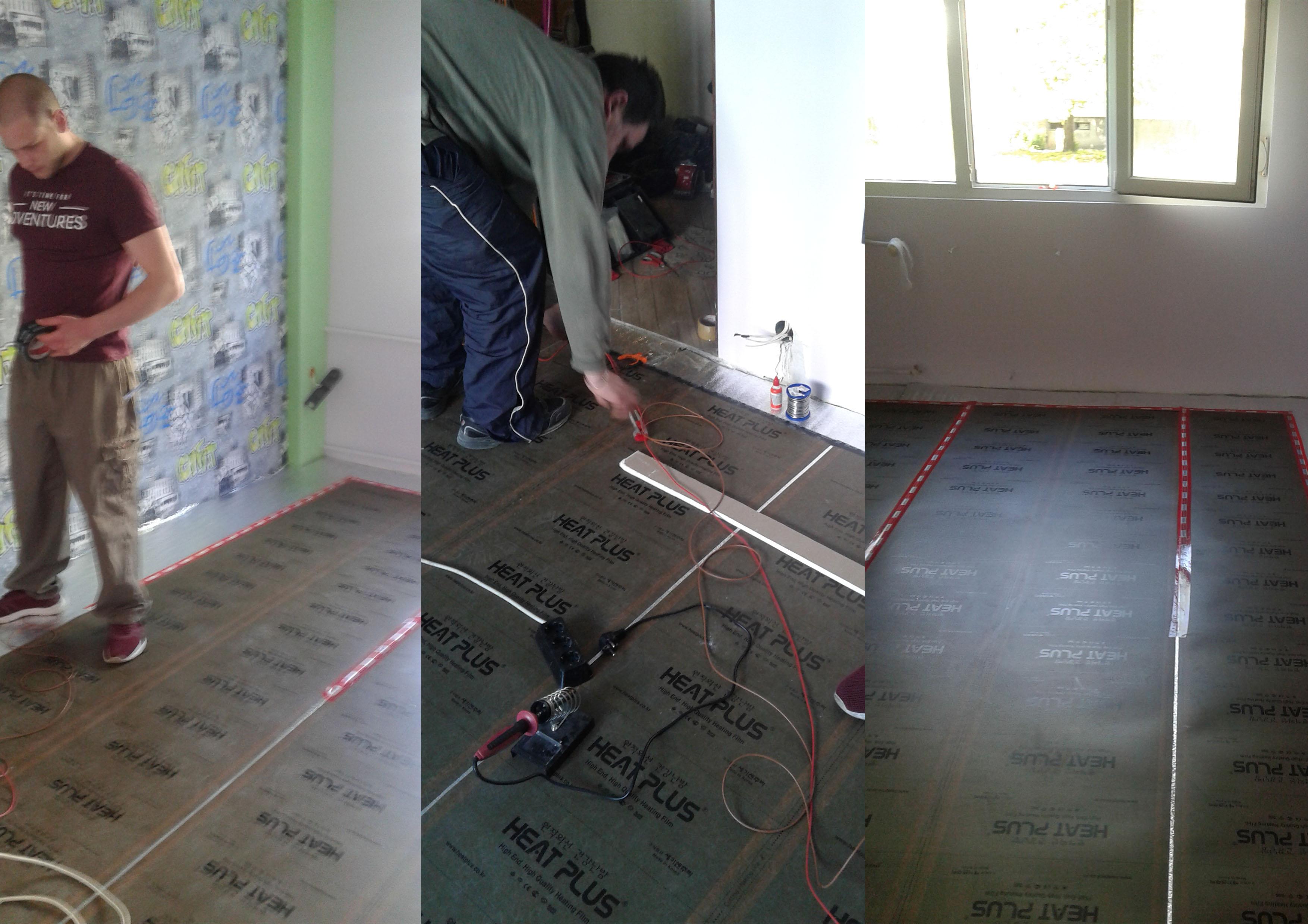 montaj na podovo
